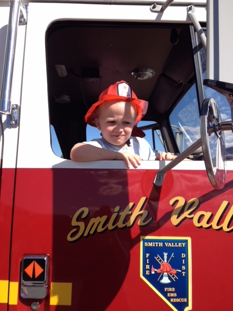 Summer's son Isaac - future firefighter :)